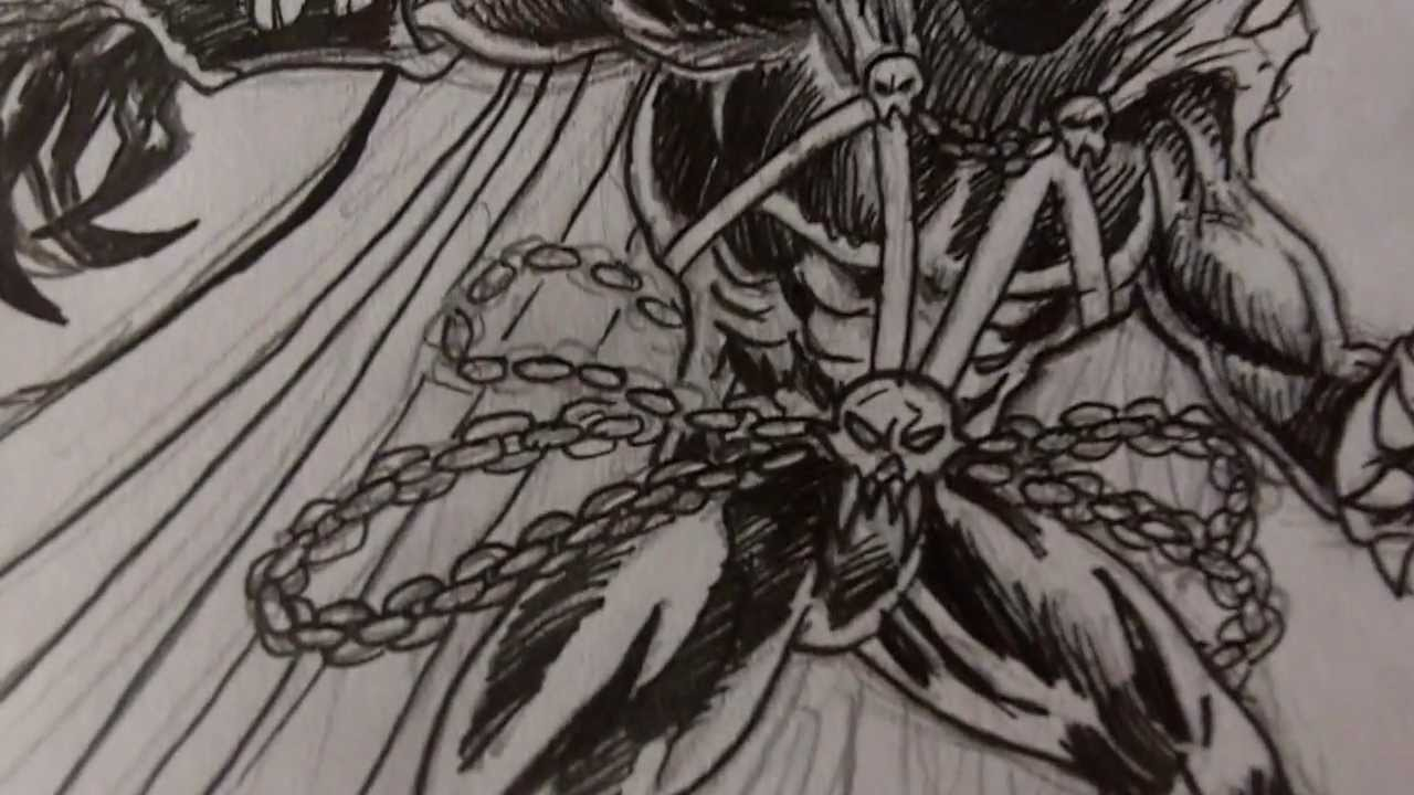 Drawing Spawn Art - Inking
