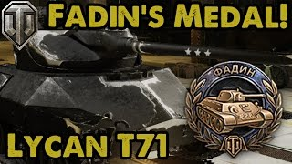 WoT - MY FIRST FADIN'S MEDAL! - Lycan T71 (Xbox One)