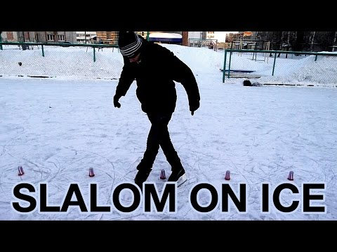 Слалом на коньках (freestyle ice skating). Йошкар-Ола