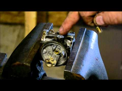 BRIGGS AND STRATTON WALBRO /  TECUMSEH CARBURETOR REPAIR / HOW TO REPLACE LEAKING FUEL NIPPLE