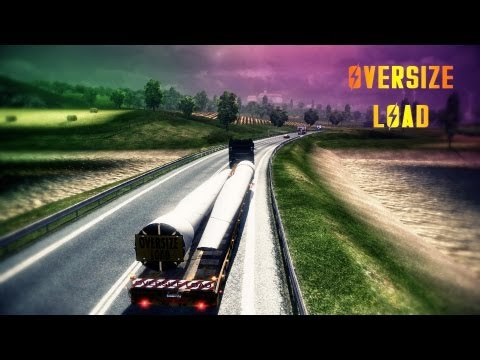 Euro Truck Simulator 2 - OVERSIZE LOAD! - Scania R1000 ( Full HD )