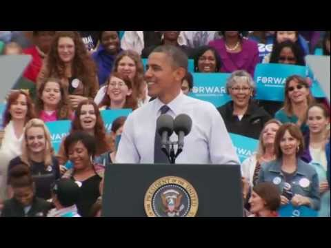 President Obama in Fairfax, Virginia: &quot;Romnesia&quot;