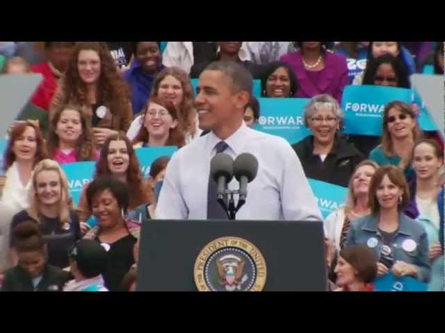 "President Obama in Fairfax, Virginia: ""Romnesia"""