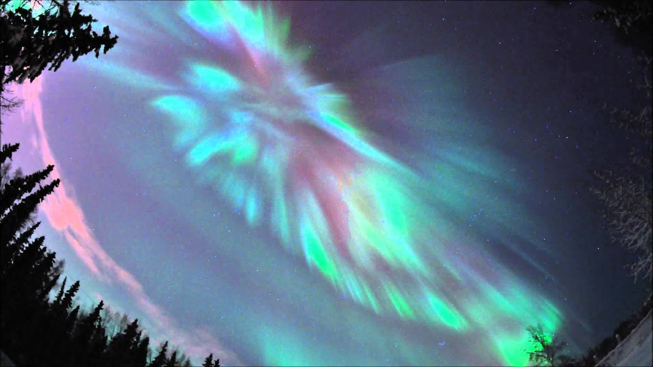 Northern Lights Alaska Wallpaper Coronal Aurora Over Fairbanks