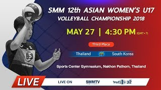 Thailand vs South Korea | Asian Women's U17 Volleyball Championship 2018 (Thai dub)