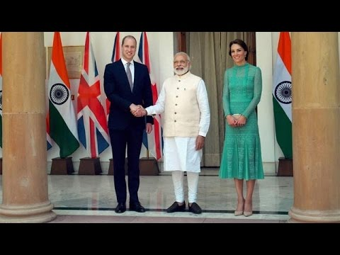 Prince William and Kate Middleton Meet PM Narendra Modi
