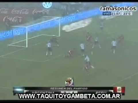Argentina 2 Peru 1 Eliminatorias 2010 (relato Mariano Closs )