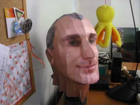 PaperCraft Low Polygon Self Portrait