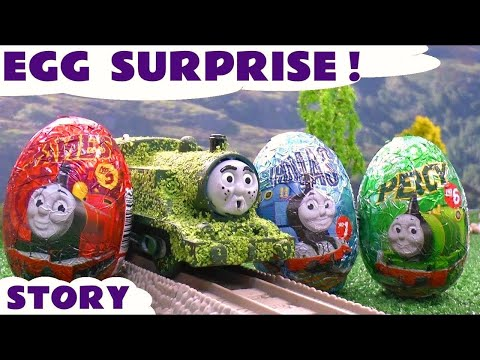Thomas And Friends Surprise Eggs Tom Moss The Prank Engine Funny Thomas Tank Episode Toy Story video
