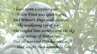 """The Darkling Thrush"" by Thomas Hardy (read by Tom O'Bedlam)"