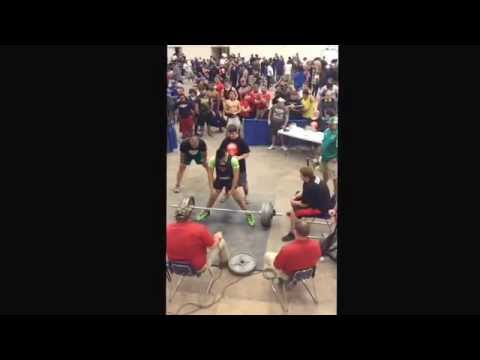 My brother Andrew Garza from Falfurrias High School.Breaking the Texas State Dead Lift Record 620lbs