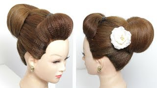 Easy Bun, Simple Juda Hairstyle For Long Medium Hair