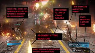 Final Fantasy 7 Remake Combat System Analysis from Screenshots