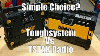 DEWALT TSTAK Radio vs Toughsystem Radio | What Radio Fits Your Listening Style Best