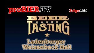 Weizenbock hell von Ladenburger | proBIER.TV - Craft Beer Review #749 [4K]