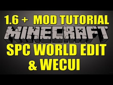 Minecraft 1.6+ Single Player Commands , World Edit and CUI Mod Install Tutorial