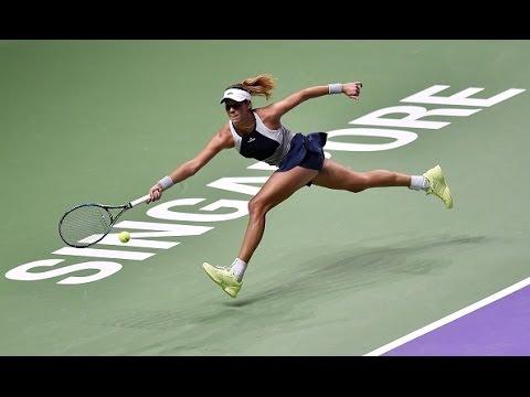Garbine Muguruza vs Petra Kvitova | 2015 WTA Finals Highlights