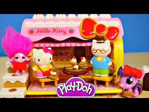 Play Doh Hello Kitty Strawberry Cake House こんにちはキティ Toy MLP Zelfs Playset Playdough