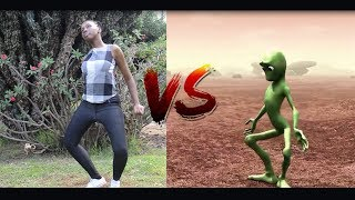 KENYAN GIRL VS ALIEN| Dame Tu Cosita dance challenge 2018