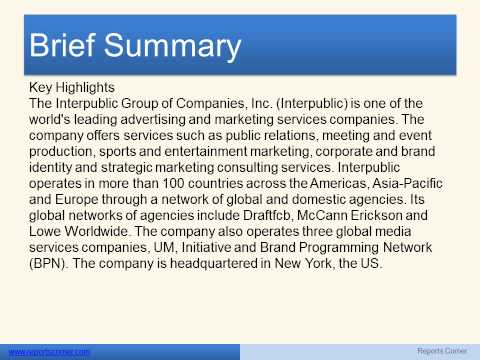 The Interpublic Group of Companies, Inc Technology and Communications - Reports Corner