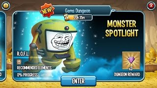 Monster Legends Gems Dungeon R.O.F.L Spotlight Reward Gems
