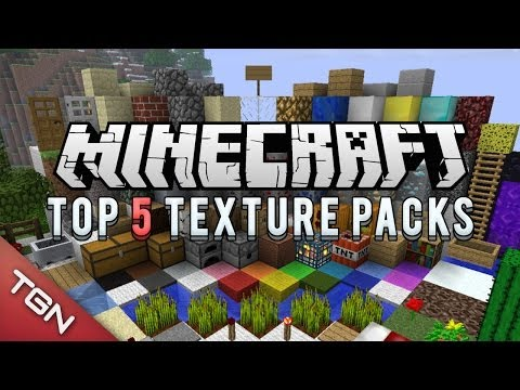 MINECRAFT TOP 5 TEXTURE PACKS 1.6.2 & 1.6.4 [2013] [+Descarga]