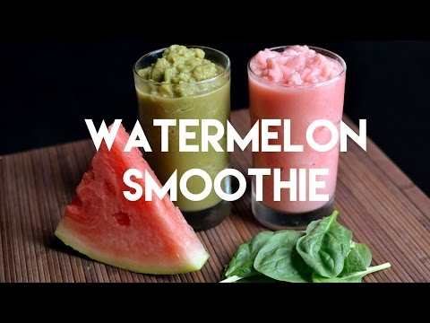 Pink or Green Watermelon Smoothie