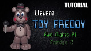Tutorial Llavero Toy Freddy en Porcelana Fria | FNaF 2 | Toy Freddy Charm Polymer Clay Tutorial