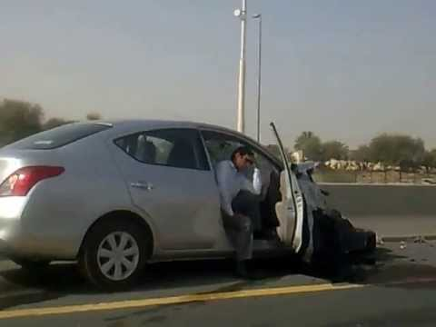 Accident on Emirates Road - DUBAI, 28 MAY 2013
