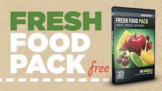 Fresh food pack free download for 3D Element مجانا