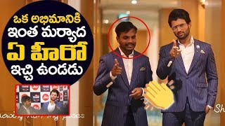 Vijay Devarakonda Real Behavior | Vijay Devarakonda with his fan Prashant at Filmfare awards 2018