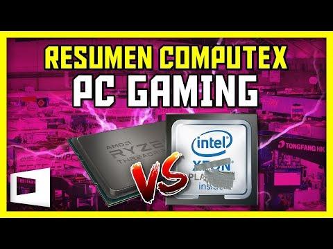 INTEL 28 Núcleos vs AMD Threadripper 2 32 Núcleos. i7 8086k 5Ghz. Vega 56 Nano. Noticias PC COMPUTEX