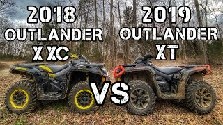 REAL RIDER REVIEW COMPARISON: 2018 Can-am Outlander Xxc vs. 2019 Can-am Outlander XT