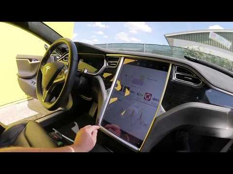 Tesla & Technik: Die Lösung für knistern im Dachhimmel Tesla Model S