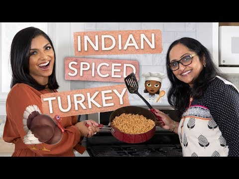 Cooking with Mama Pandu - Indian Turkey Keema | Deepica Mutyala
