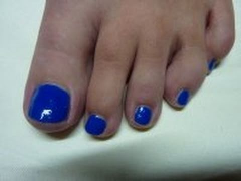 Review Of Aqmore Water Based Heart Of Ocean Blue Nail Polish Painting My ToeNails HD Video