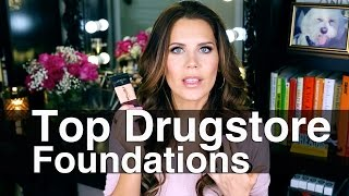 TOP 5 DRUGSTORE FOUNDATIONS + 3 bad ones || GlamLifeGuru