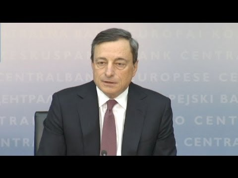 Euro slumps on ECB Draghi's comments