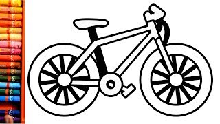 Drawing and coloring a bicycle for Kids and toddlers