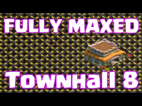 Clash Of Clans FULLY MAXED Townhall 8 Farming Base   Upgrading To Townhall 9