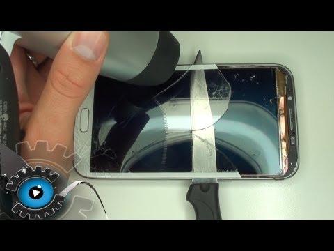 Samsung Galaxy Note 2 Glas Tauschen Wechseln unter 30€ Reparieren[Deutsch/German]Glass repair