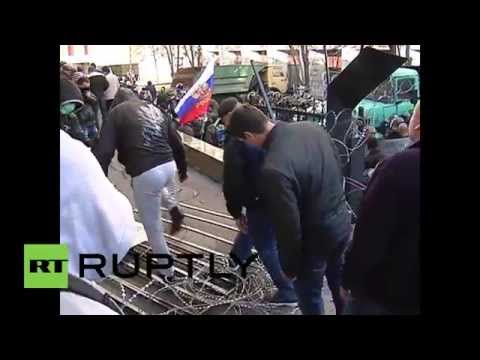 Ukraine: Pro-Russia activists seize Donetsk government building