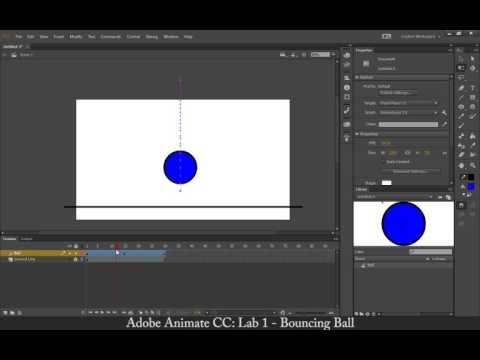 Adobe Animate CC: Lab 1 - Bouncing Ball