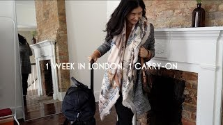 1 Week In London In A Carry-On | How To Pack Light For Europe