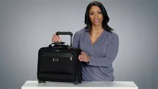 MEDIUM 2-WHEEL EXPANDABLE BRIEF - from the @work Colleciton - KR420X