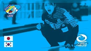 Japan v Korea Women's Roundrobin World Junior Curling Championships 2019