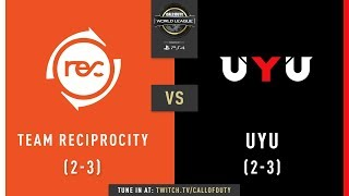Team Reciprocity vs UYU | CWL Pro League 2019 | Division A | Week 2 | Day 3
