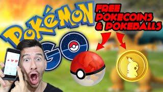 How To Get More Pokeballs & Free PokeCoins - Pokemon Go!