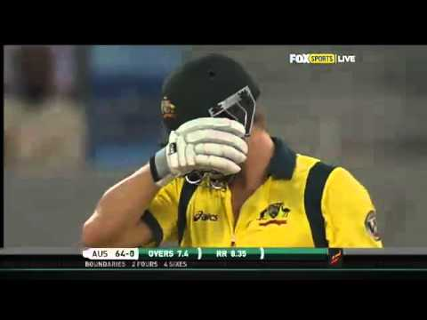 Shane Watson/Dave Warner smash 11 sixes (119) + a switch hit