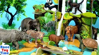Jungle Animals Toys Surprises - Learn Wild Zoo Animal Names